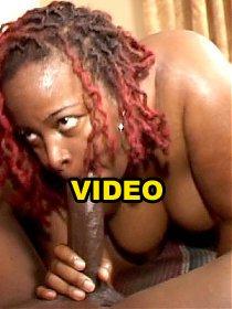 Large black hottie enjoying a nasty slit thrashing