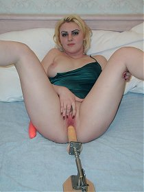 Blonde bbw hottie enjoying every minute of it while she crams her wet slit with a vibrator live